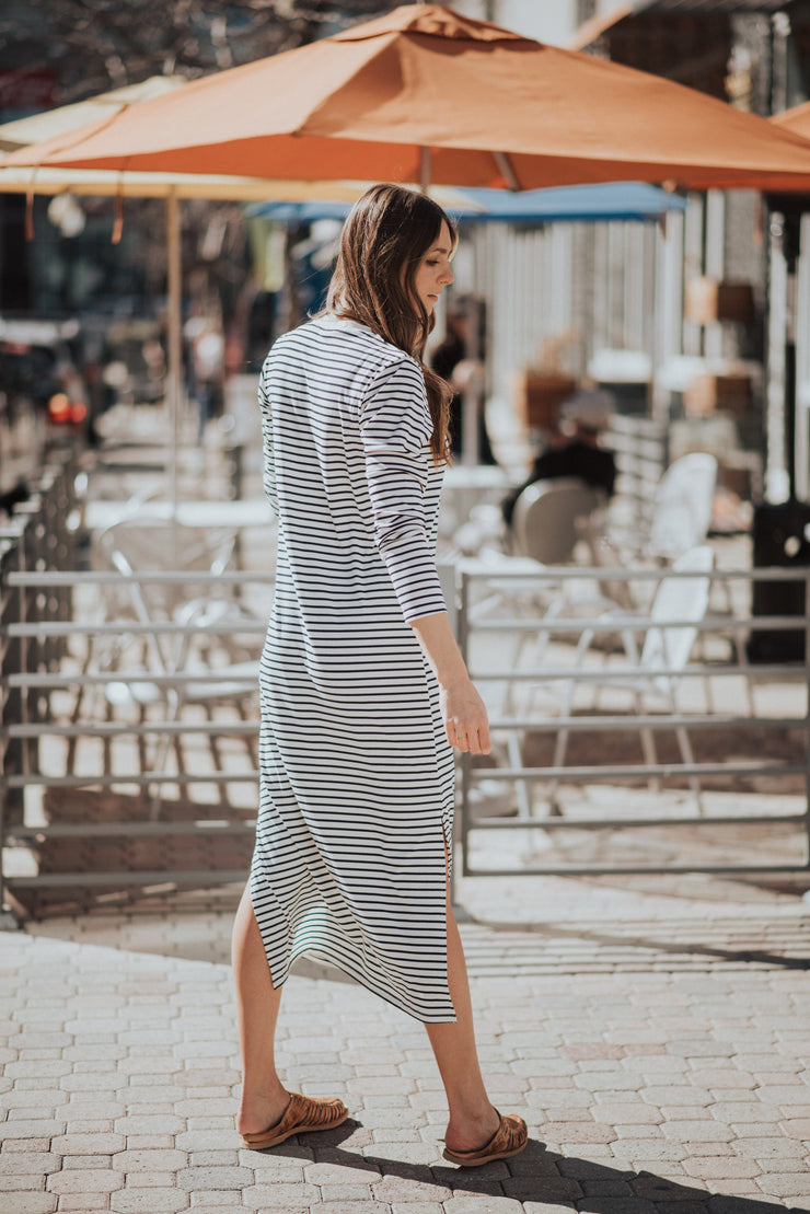 Stripes to Meet You Maxi Tee Dress