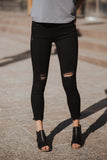 Sahara Distressed Black Jeans