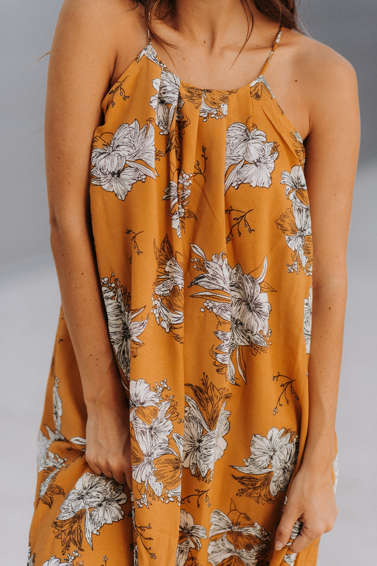 hazel yellow floral maxi dress shop emma lou