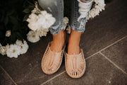 matisse morocco woven slides in nude shop emma lou
