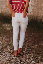 Vervet by Flying Monkey White Ripped Skinny Jeans