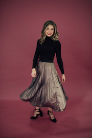 The Party Skirt in Purple Gold