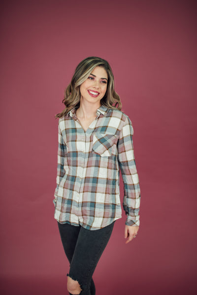 Dixie Plaid Top
