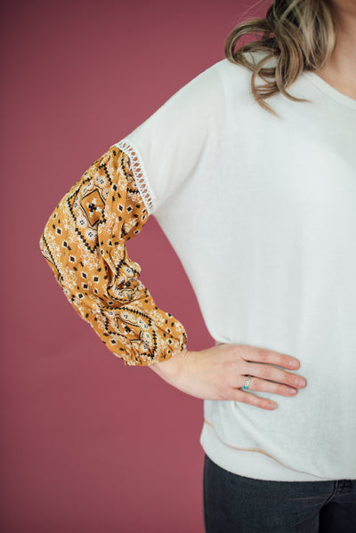 Anais Statement Sleeve Pullover * ULTRA SOFT *