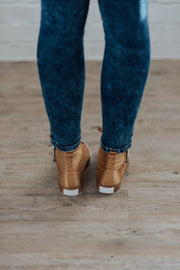 Camel Satin High Top Tennies Shop Emma Lou