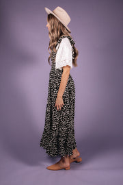 Polka Dot Tie Sleeve Maxi Dress