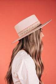 Blush Flat Brim Hat