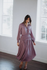 Sparrow Midi Dress in Amethyst
