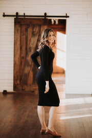 Bodycon Ribbed Black Dress ** ULTRA SOFT **