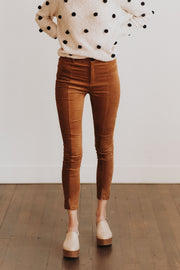 Opal Suede Pants in Camel