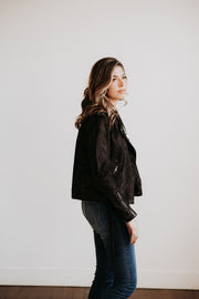 Juno Leather Jacket in Graphite