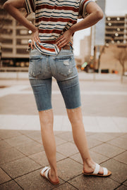 Denim Cut-off Skinny Shorts