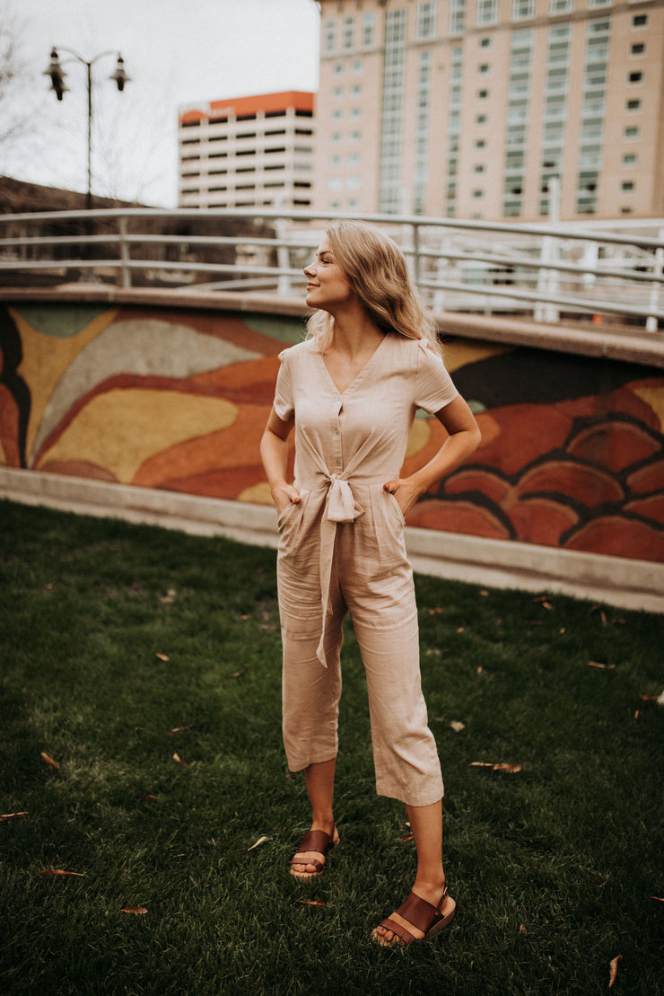 Edith Linen Jumpsuit