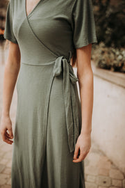 Mala Ribbed Wrap Dress