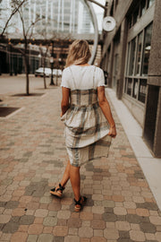 Dominica Plaid Woven Dress