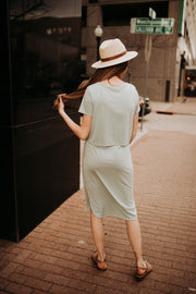 Serenity Knotted Dress in Seafoam
