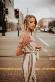 Ada Striped Jumpsuit