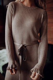 Stone Cold Ribbed Knit Dress
