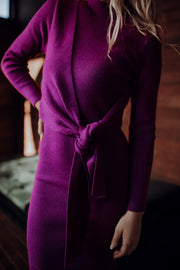 In Knots Purple Knit Dress
