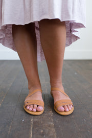strappy tan sandals