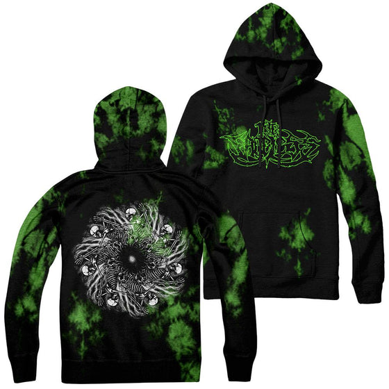 The Faceless - Spiraling Void Green Wash Hoodie