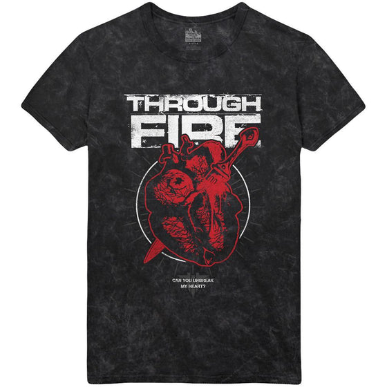 Through Fire - Heart Mineral Wash Tee