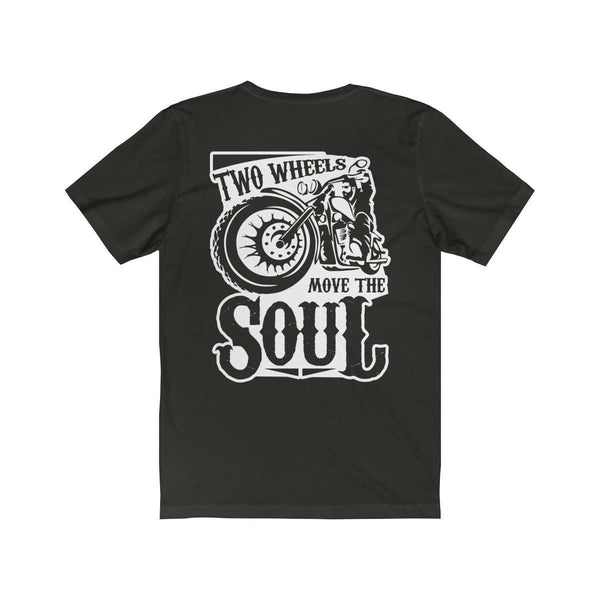 Double sided Two wheels Tee-Freaking Awesome T-Shirts