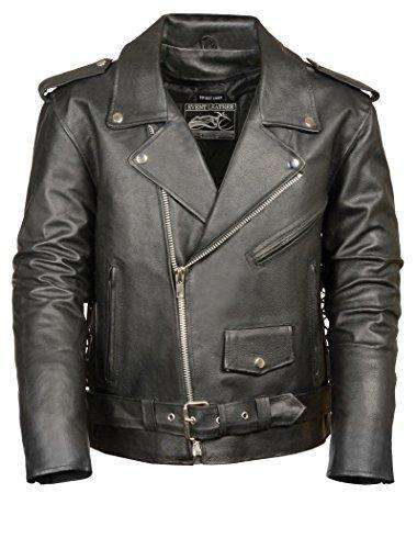 Men's leather Jacket (Black, XXX-Large) - Freaking Awesome T-Shirts