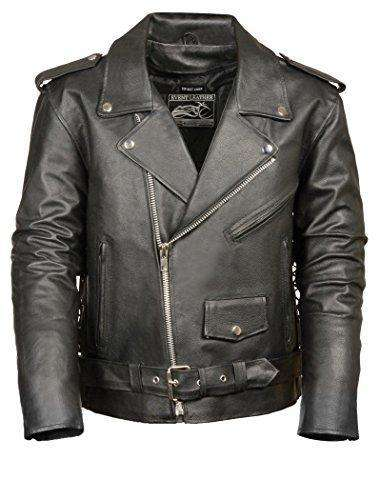 Men's Motorcycle Jacket (Black, 4X-Large)-Freaking Awesome T-Shirts