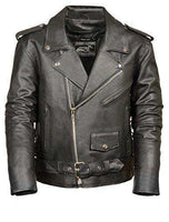 Men's Motorcycle Jacket (Black, Medium)-Freaking Awesome T-Shirts