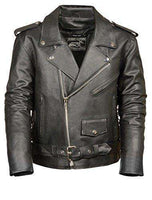 Men's Motorcycle Jacket (Black, Small)-Freaking Awesome T-Shirts