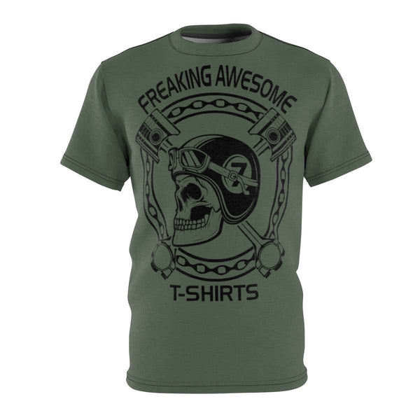 Skull N' Pistons Microfiber Tee-Freaking Awesome T-Shirts