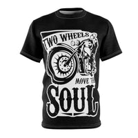 Two Wheels Microfiber Tee - Freaking Awesome T-Shirts