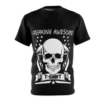 Unisex Skull AOP Tee-Freaking Awesome T-Shirts