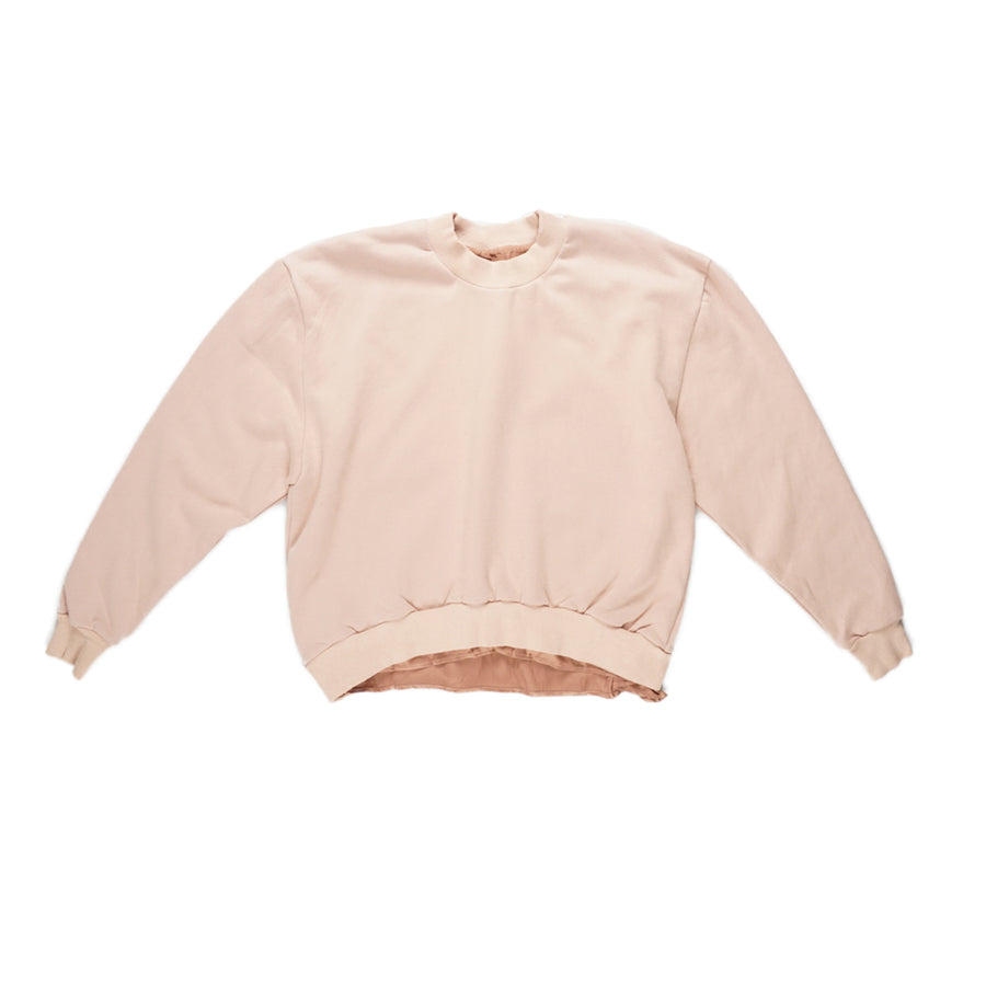 SILK LINED SWEATSHIRT