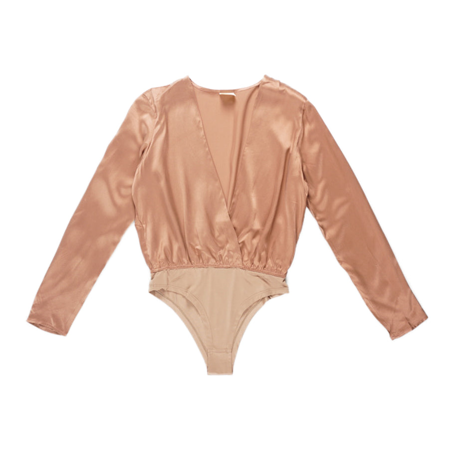 WASHED SILK BODYSUIT