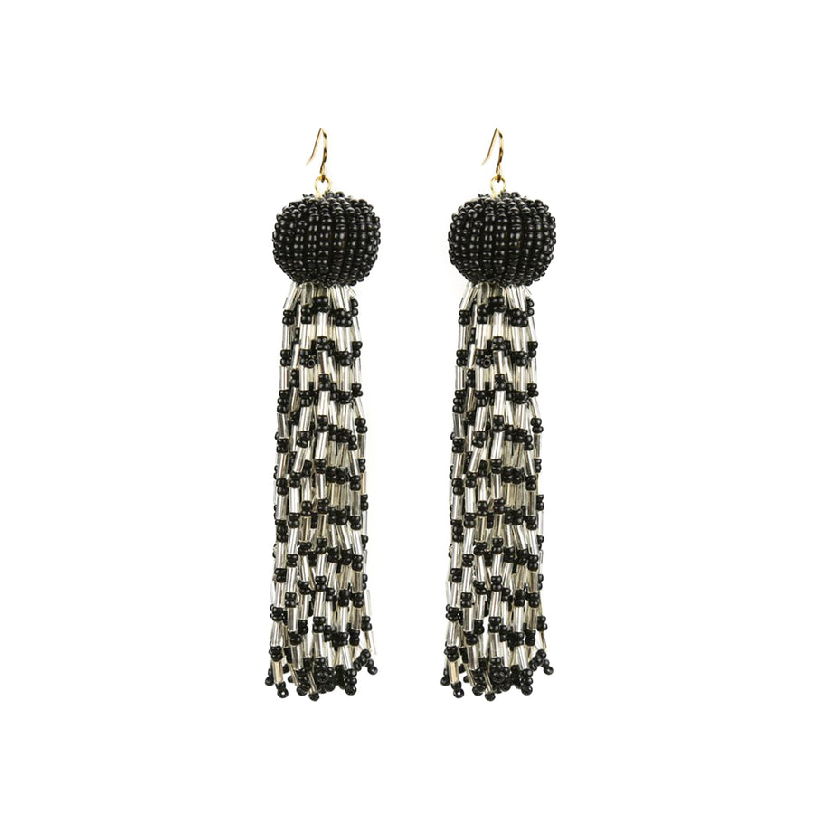 ANTOINETTE EARRINGS - BLACK/SILVER