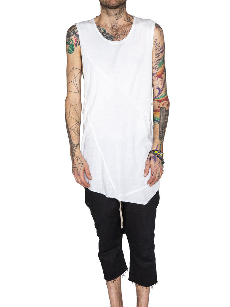THE WELL - DIMENSION TANK - WHITE -  MENS | TOPS - The Well