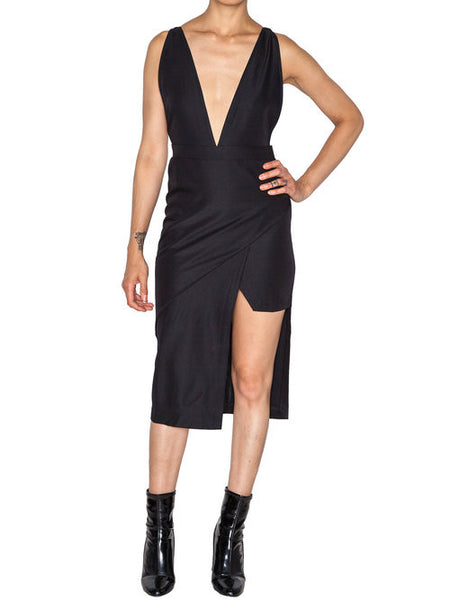 NIGHTWALKER - THE NIRVANA DRESS - BLACK -  WOMENS | DRESSES - The Well