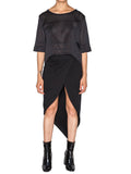 THE WELL - MOTO CROP TOP - MESH -  WOMENS | TOPS - The Well
