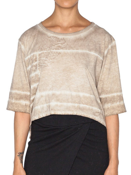 THE WELL - MOTO CROP TOP - OIL -  WOMENS | TOPS - The Well