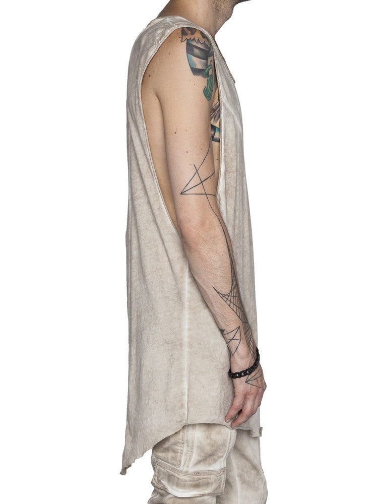 THE WELL - MOTO TANK - OIL KHAKI -  MENS | TOPS - The Well