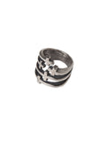 HELTER SKELTER - CROSSED UP RING - SILVER -  JEWELRY - The Well