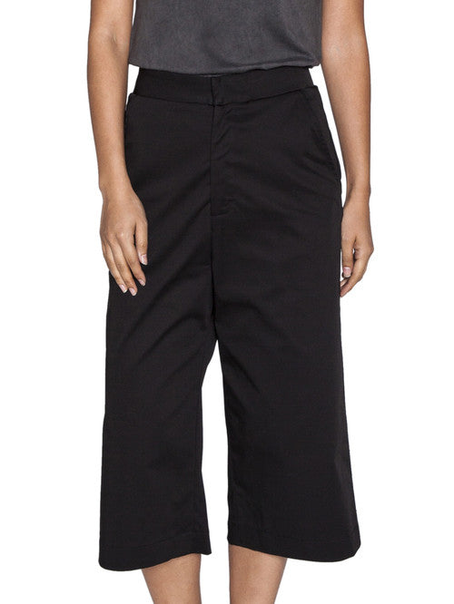 THE WELL - CLASSIC CULOTTE - BLACK -  WOMENS | BOTTOMS - The Well
