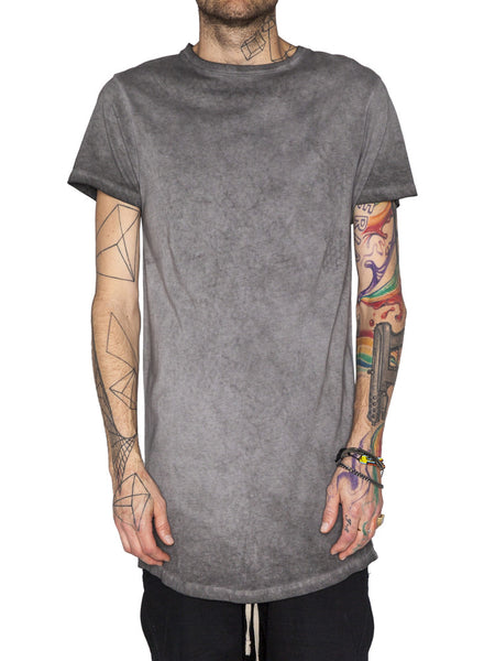 THE WELL - BASIC TEE - OIL GREY -  MENS | TOPS - The Well