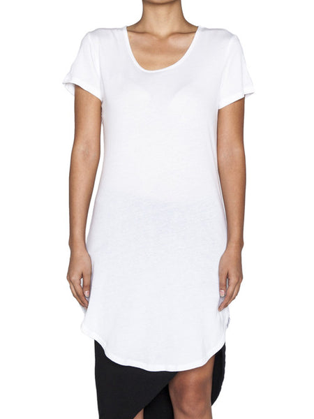 THE WELL - NOT SO BASIC TEE - WHITE -  WOMENS | TOPS - The Well