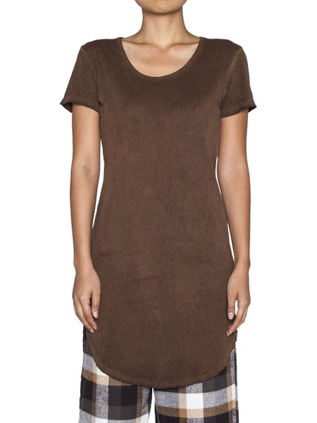 THE WELL - WOMENS NOT SO BASIC TEE - OIL BROWN -  WOMENS | TOPS - The Well