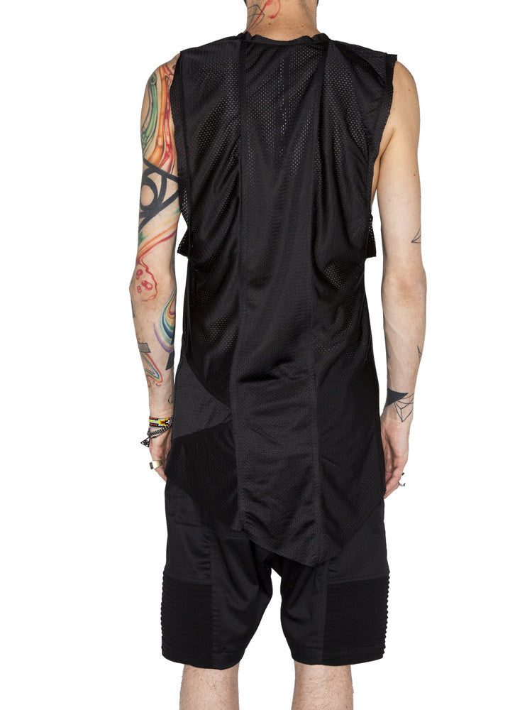 THE WELL - MOTO TEE - BLACK MESH -  MENS | TOPS - The Well