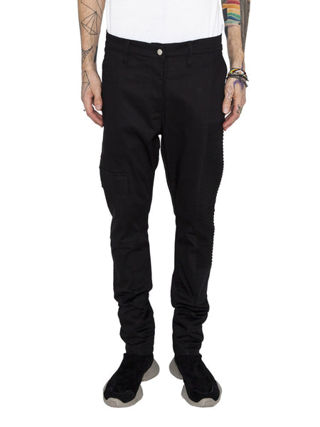 THE WELL - MOTO RIBBED PANT - BLACK -  MENS | BOTTOMS - The Well
