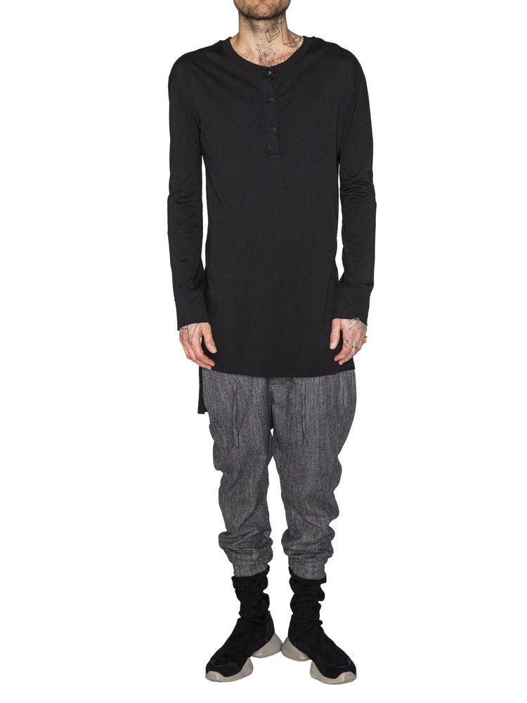 THE WELL - HENLEY - BLACK -  MENS | TOPS - The Well